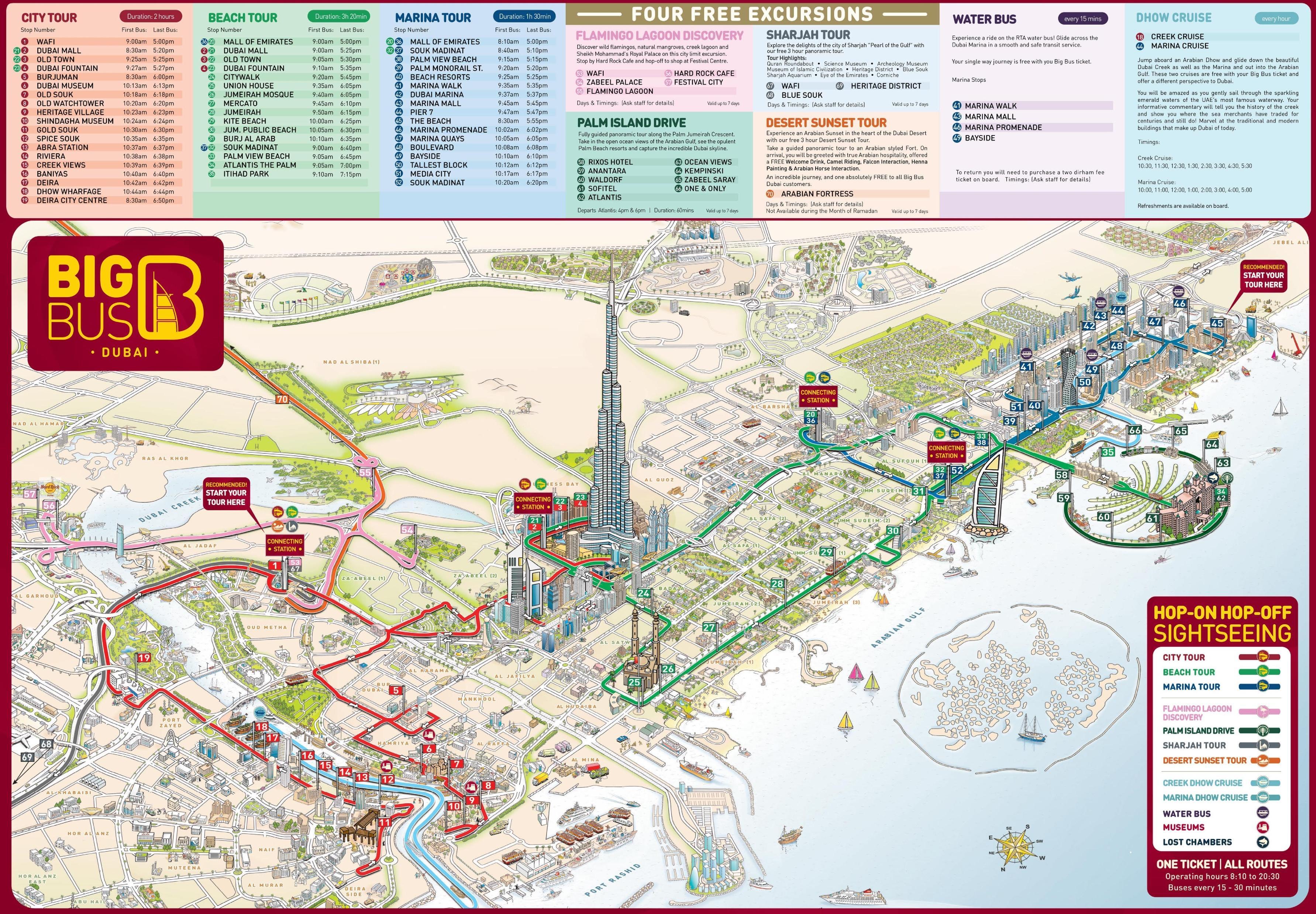 atrakcje turystyczne dubaj mapa dubaj mapa z atrakcjami